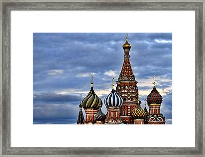 St Basils Cathedral - Moscow Russia Framed Print by Jon Berghoff