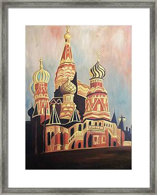 St Basil's Cathedral Moscow Framed Print by Suzanne  Marie Leclair