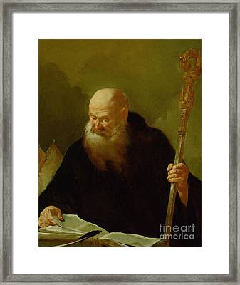 St. Benedict Framed Print by Giambattista Piazzetta