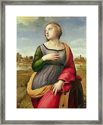 St Catherine Of Alexandria Framed Print by Celestial Images