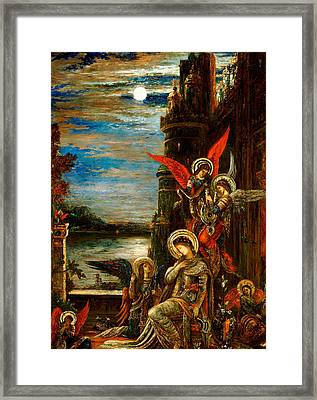 St Cecilia The Angels Announcing Her Coming Martyrdom Framed Print by Gustave Moreau
