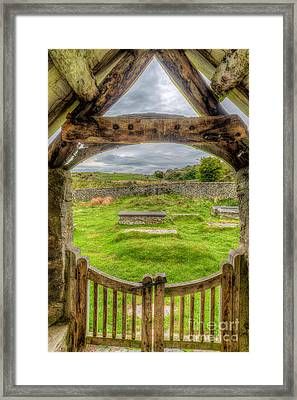 St Celynnin Graveyard Framed Print by Adrian Evans
