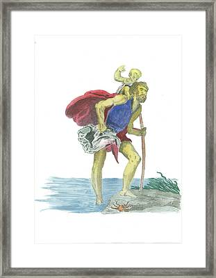 St. Christopher 1 Framed Print by Marko Jezernik
