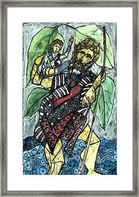 St. Christopher 7 Framed Print by Marko Jezernik