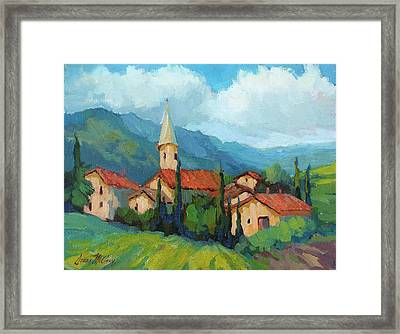 St. Colombe Provence Framed Print by Diane McClary