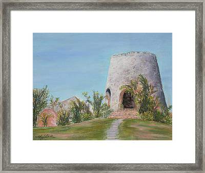 St. Croix Sugar Mill Framed Print by Mary Benke