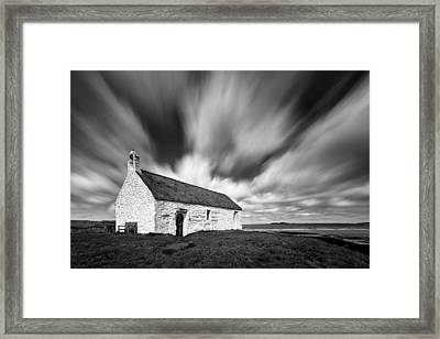 St Cwyfan's Church Framed Print by Dave Bowman