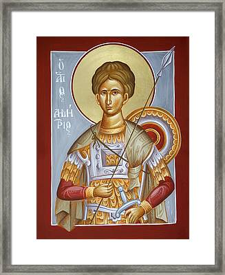 St Dimitrios The Myrrhstreamer Framed Print by Julia Bridget Hayes