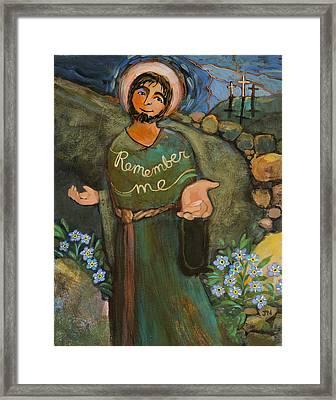 St. Dismas Framed Print by Jen Norton