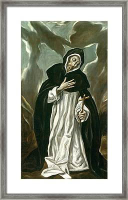 St Dominic Of Guzman Framed Print by Celestial Images