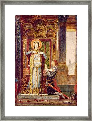St Elisabeth Of Hungary Or The Miracle Of The Roses Framed Print by Gustave Moreau
