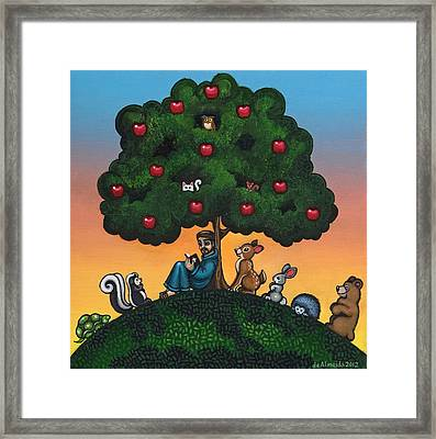 St. Francis Mother Natures Son Framed Print by Victoria De Almeida