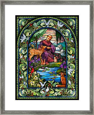 St. Francis Of Assisi Framed Print by Randy Wollenmann