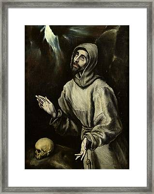 St Francis Of Assisi Receiving The Stigmata Framed Print by Celestial Images