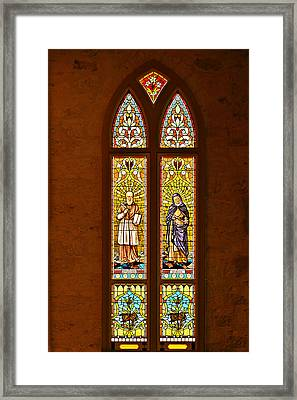 St Francis Of Sales And St Monica Framed Print by Christine Till