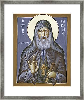 St Gabriel The Confessor Of Georgia Framed Print by Julia Bridget Hayes