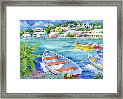 St George Harbor Framed Print by Paul Brent