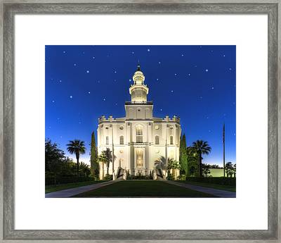 St. George Temple 2 Framed Print by Dustin  LeFevre