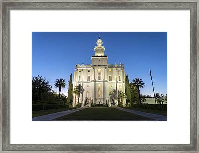 St. George Temple Framed Print by Dustin  LeFevre
