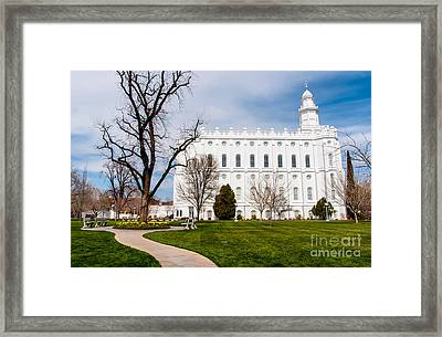 St. George Temple - Utah Framed Print by Gary Whitton