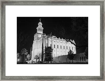 St George Utah Lds Temple 1 Framed Print by Alan Nix