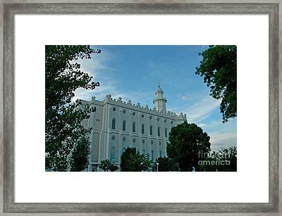 St. George Utah Lds Temple Framed Print by Nick  Boren