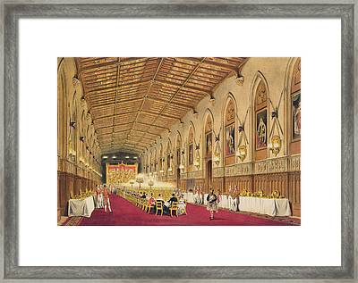 St Georges Hall At Windsor Castle Framed Print by James Baker Pyne
