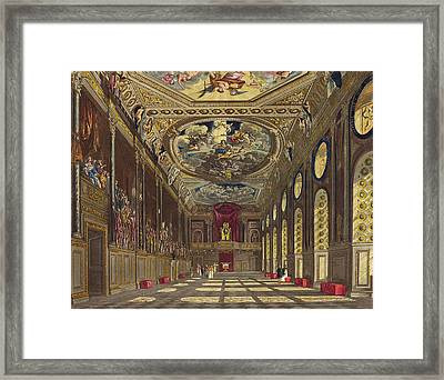 St. Georges Hall, Windsor Castle Framed Print by Charles Wild