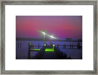 St. Georges Island Dock - Just Before Sunrise Framed Print by Bill Cannon