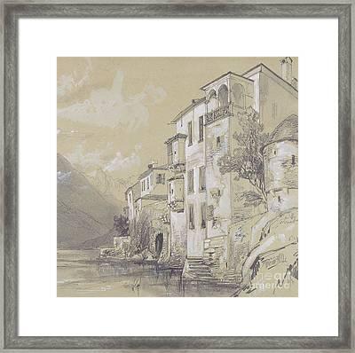 St Giulio Orta Framed Print by Edward Lear