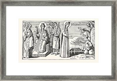 St. Helena Discovering The True Cross Framed Print by English School