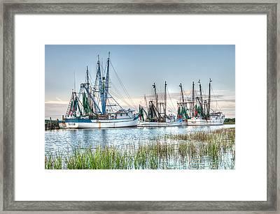 St. Helena Island Shrimp Boats Framed Print by Scott Hansen