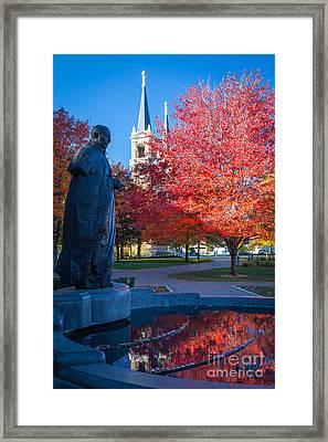 St Ignatius At Gonzaga Framed Print by Inge Johnsson