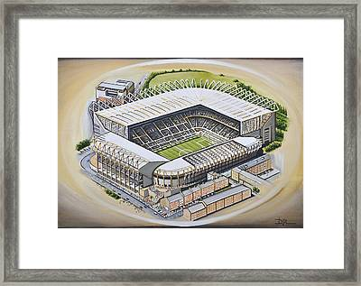 St  James Park - Newcastle United Framed Print by D J Rogers