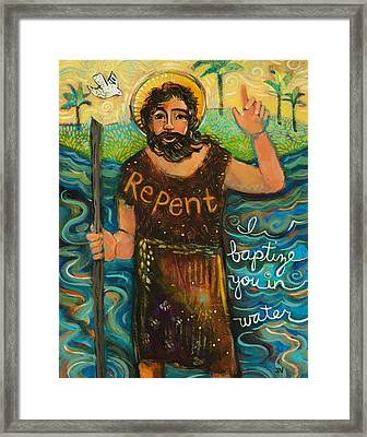 St. John The Baptist Framed Print by Jen Norton