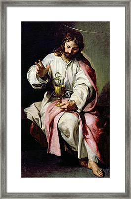 St. John The Evangelist And The Poisoned Cup Framed Print by Alonso Cano