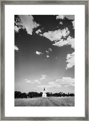 St John The Evangelist Catholic Church Bw Framed Print by Rich Franco