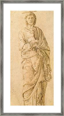 Saint John The Evangelist Framed Print by Italian School
