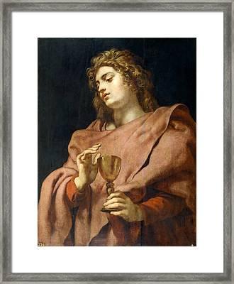 St John The Evangelist Framed Print by Peter Paul Rubens
