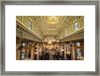 St. Joseph Co-cathedral Framed Print by Andy Crawford