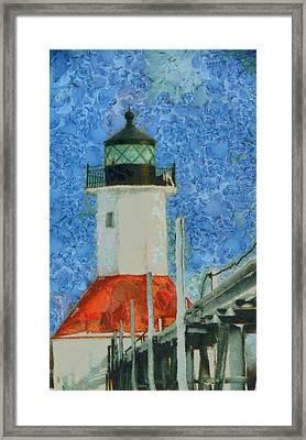 St. Joseph Lighthouse Lake Michigan Framed Print by Dan Sproul