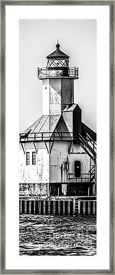 St. Joseph Lighthouse Vertical Panorama Picture  Framed Print by Paul Velgos