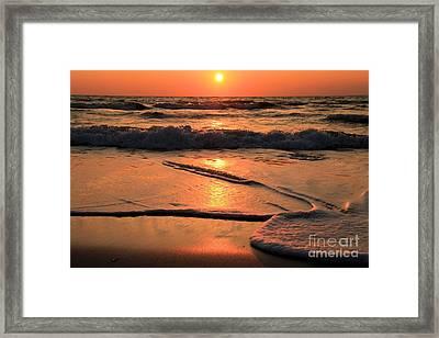 St. Joseph Sunset Swirls Framed Print by Adam Jewell