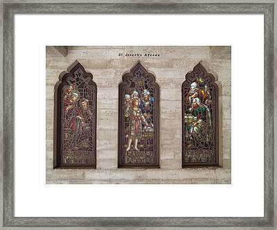St Josephs Arcade - The Mission Inn Framed Print by Glenn McCarthy Art and Photography