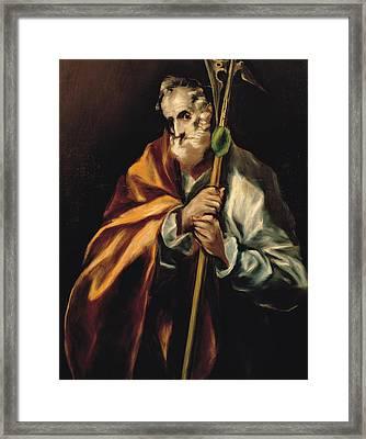 St Jude Thaddeus Framed Print by Celestial Images