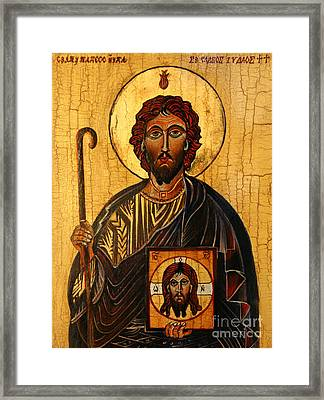 St. Jude The Apostle Framed Print by Ryszard Sleczka