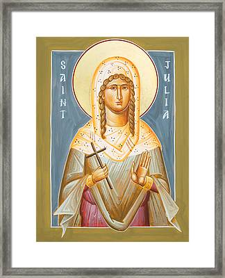 St Julia Of Carthage Framed Print by Julia Bridget Hayes