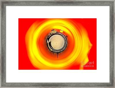 St Kilda Sunset Framed Print by Az Jackson