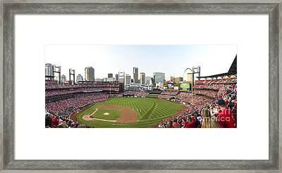 St. Louis Cardinals Pano 1 Framed Print by David Haskett