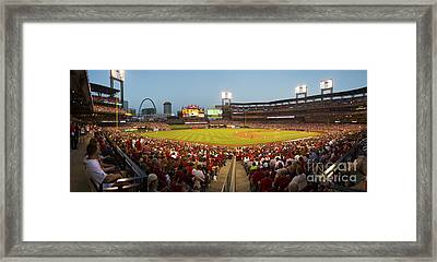St. Louis Cardinals Pano 6 Framed Print by David Haskett